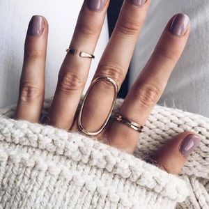 Gold minimalist midi rings stack rings